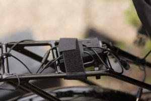 Battery pack and arduino on bike rack